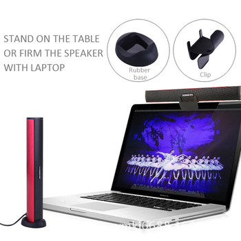 USB Laptop Speaker Portable/Computer Audio Mini Soundbar Subwoofer Bar Stick Music Player to PC Hot Sale Ikanoo Brand 3