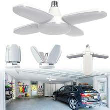 Складной светодиодный светильник для гаража, лампа в форме вентилятора, потолочный светильник 30-60 Вт, домашний магазин, светильник для цеха светодиодный, высокий залив, промышленный светильник для мастерской