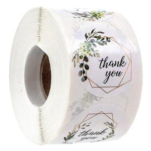 500pcs Greenery Frames thank you stickers 4 Alternating Designs for Wedding birthday party Christmas gift envelope decoration(China)