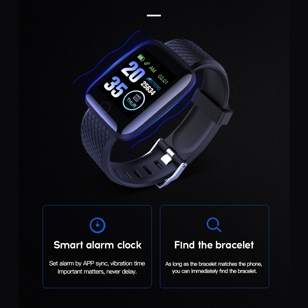 Smart Watch Heart Rate Smart Wristband Sports Watches Smart men women Waterproof Smartwatch for Android iOS Rogbid D13 116 plus 2