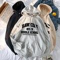 Женская толстовка с капюшоном, теплая флисовая толстовка большого размера в стиле хип-хоп для фитнеса, уличная одежда, весна-Зима 2020