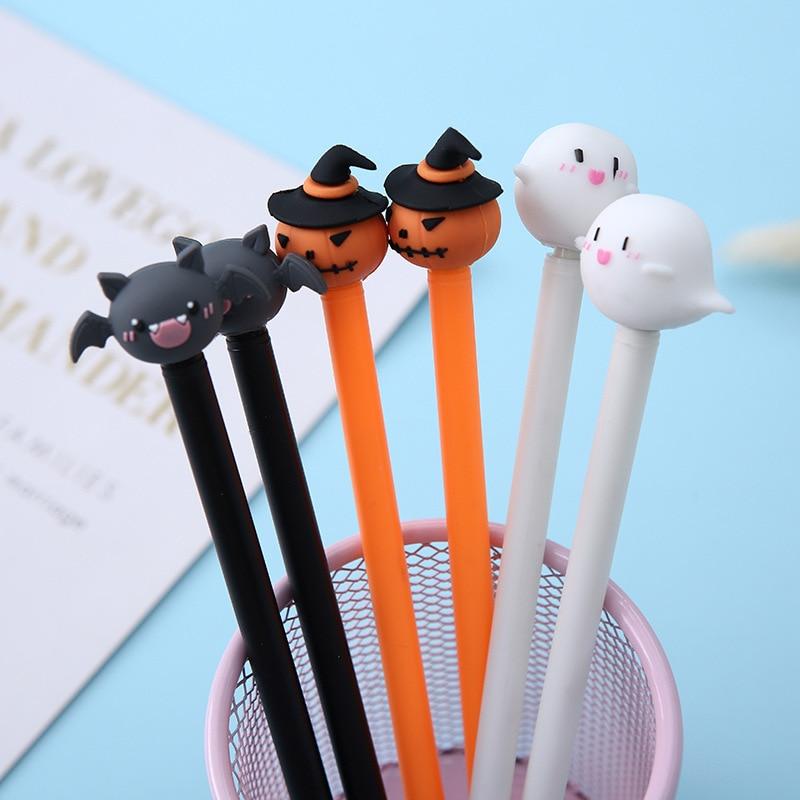 1 Pcs Halloween Styling Gel Pen Lovely Pumpkin Devil Christmas Cartoon Kids Pens Cute Stationary For Student Gift School Supples