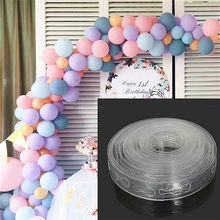 5M/lot Convenient Accessories Balloon Chain 160Holes Wedding Birthday Balloons Backdrop Decor Accessories Seal Accessories(China)