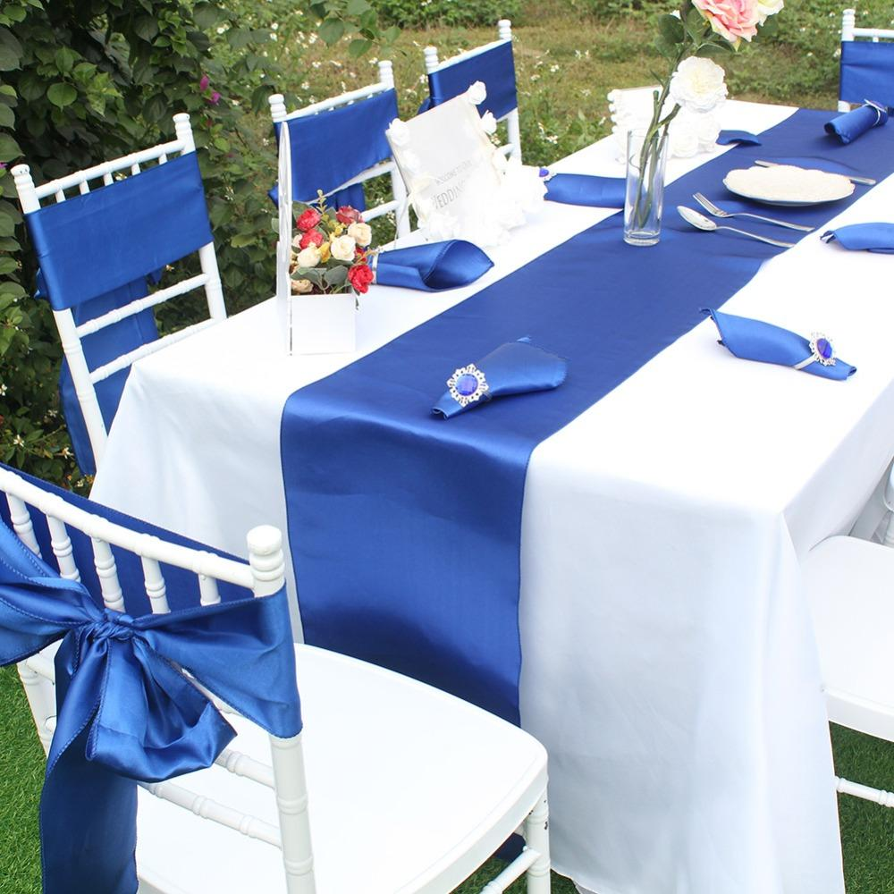 OurWarm Satin Table Runners For Wedding 12\