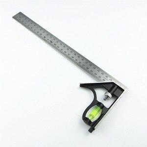 "Image 5 - DIY Präzise Edelstahl Mess Werkzeuge Aluminium Kombination Mobile Platz Werkstatt Hardware Winkel Wasserwaage 12 ""(300mm)"