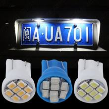 10 X Ultra Blue T10 8-SMD 8SMD 8LED 1206 LED Wedge Side Light bulbs Lamps 194 168 2825 921 W5W Led Auto Car Led light Auto Lamp(China)