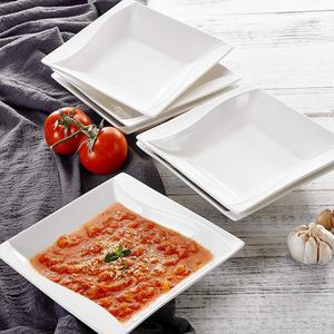 Image 3 - MALACASA Carina, assiettes à dîner en céramique, cuisine profonde, 6 pièces, assiettes à soupe, assiettes à fruits pour la salade, 6 pièces, 8 pouces, céramique, crème