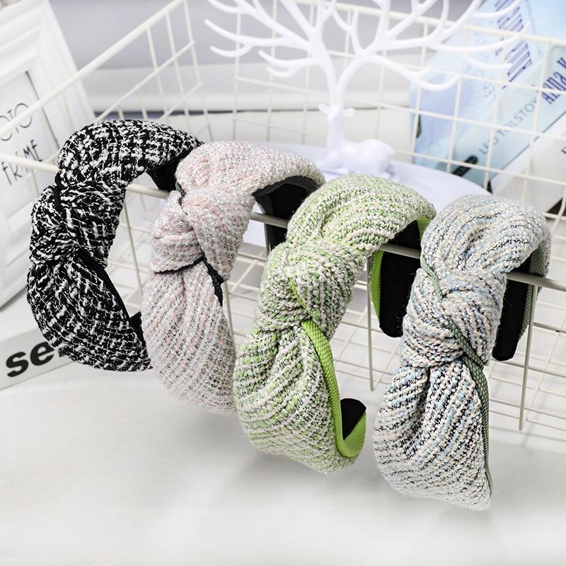 Ferramentas de Estilo do Cabelo Lote Faça Você Mesmo Simples Multi Tecidos Laço nó Tarja Cabeça Bandas Topper Ampla Hairbands Acessório Ha1522 30 Pçs –