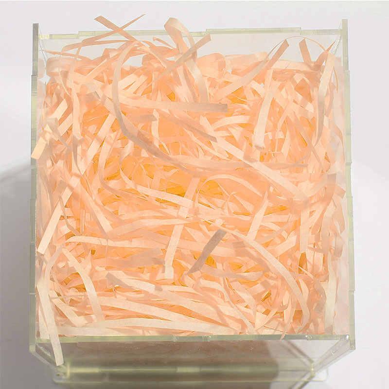 20g na worek bibuła do samodzielnego wykonania papier wypełniający trawę rafia rozdrobnione marszczone konfetti pudełko materiał do wypełniania ślubny wystrój domu