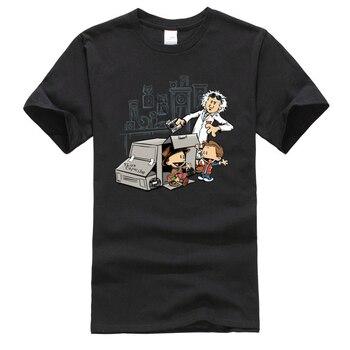 Cientific paradx Goes Boink Science divertida Camiseta de dibujos animados de algodón puro para hombres Camiseta de manga corta Europa Camiseta camisetas para estudiantes