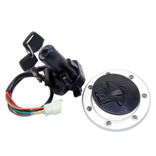цена на 1Set Motorcycle Ignition Switch Lock Fuel Tank Cap Cover Lock Key For Kawasaki ZX11 ZZR1100 ZX1100 GPZ1100 ZR7 Ninja ZX7R ZZR600
