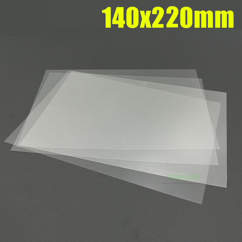 1pcs Wanhao Duplicator 7 D7/ Anycubic Photon Printer FEP Sheet FEP Film 0.1mm Thickness 145x220mm 145x220x0.1mm