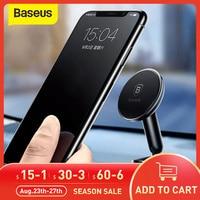 Baseus Magnetic Car Phone Holder soporte de teléfono Universal de montaje para coche panel de soporte para teléfono móvil para iPhone X 8 Xiaomi Mix2