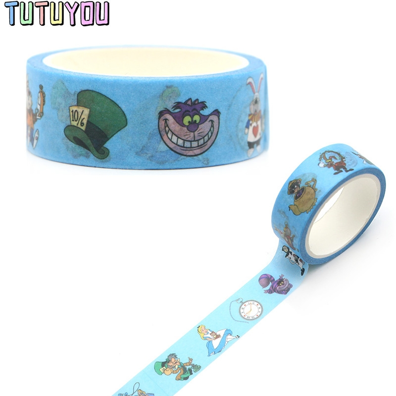 PC289  Alice Decorative Paper Washi Tape DIY Scrapbooking Masking Tapes School Office Supply