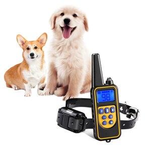 Image 1 - Collar eléctrico de choque del perro del sistema de cercado de las mascotas con Control remoto eléctrico impermeable para el dispositivo grande del Entrenamiento de mascotas del perro 5