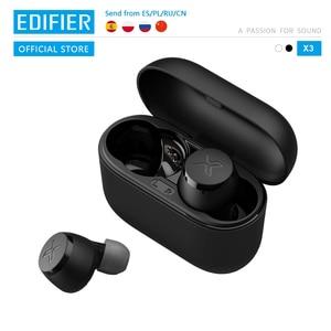 EDIFIER X3 наушники-вкладыши TWS с Беспроводной Bluetooth наушники голосового помощника Поддержка aptX Bluetooth 5,0 сенсорный Управление до 24hrs воспроизведе...