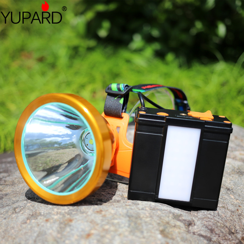 High PowerXH P50 LED Mine Lamp  Rechargeable Flashlight Spotlight Lantern Searchlight Handheld Portable Head Lamp For Camping