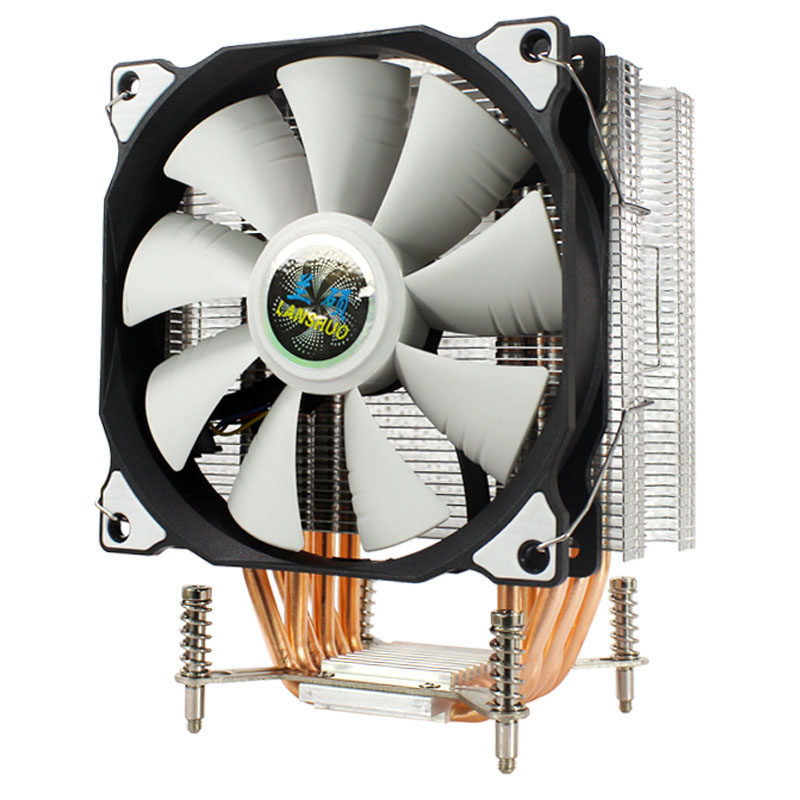 LANSHUO CPU Silent Single/Double Fans 6 Heat Pipe 3 Wire CPU Cooler Fan for Intel LGA 2011 Self-Contained Back-plane Motherboard