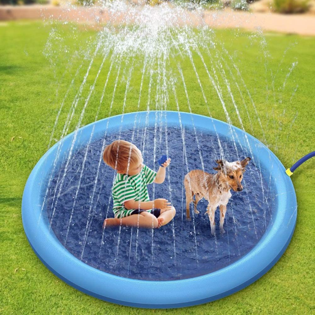 Kid Pet Simulation Sea Level Outdoor Garden Inflatable Splash Mat Water Spray Game Pad