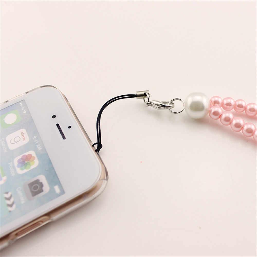 1PC sztuczne perły telefon smycz na szyję na klucze telefon komórkowy mobilny pasek ozdobny pasek klucz ID karty pasy breloczek moda