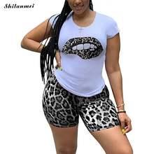 Женский сексуальный спортивный костюм с леопардовым принтом