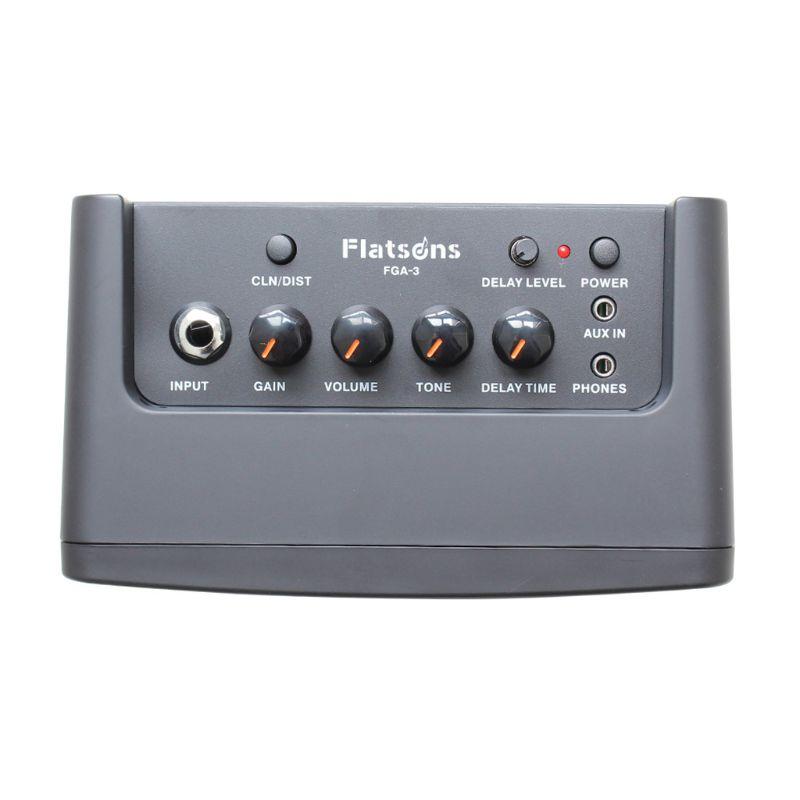 FGA-3 Mini amplificateur de guitare 6 * AA piles USB alimentation Portable ampli haut-parleur pour guitare acoustique/électrique ukulélé