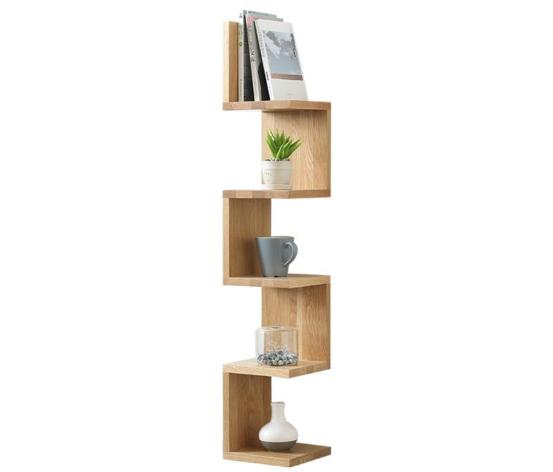 Original Element All Solid Wood Shelf Oak Shelf Nordic Wood Corner Shelf Storage Shelf Creative Corner Shelf All Solid