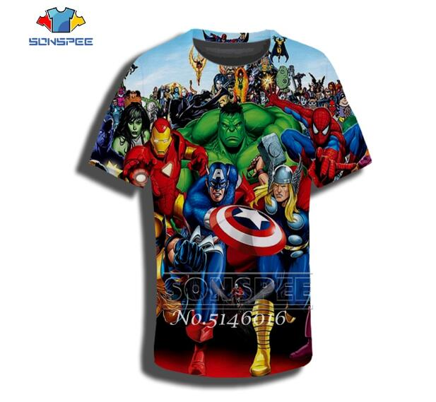 New Kids DC Marvel T Shirts Boys Superhero Top Avengers  Batman T-shirt