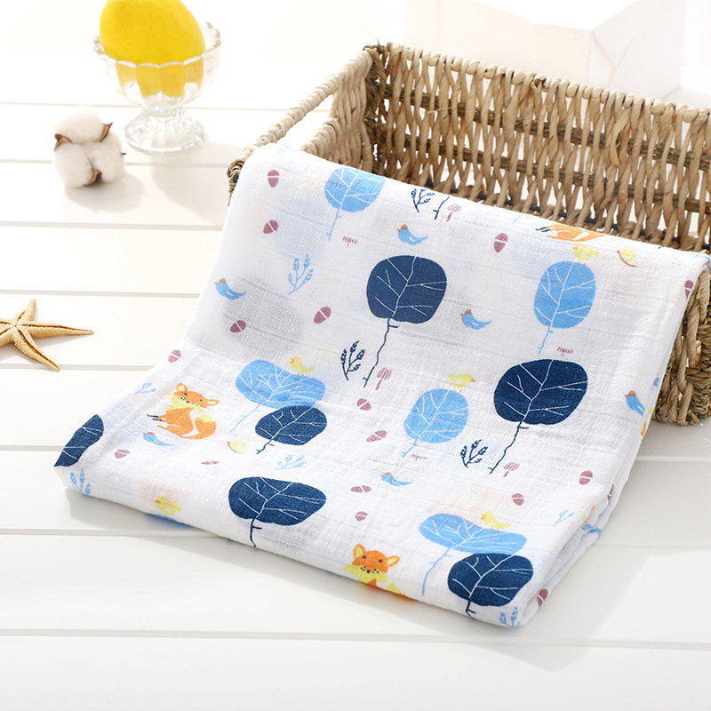 Muslin blanket swaddle 100% Cotton Baby Swaddles Soft Newborn Blankets Bath Gauze Infant Wrap sleepsack Stroller cover Play Mat | Happy Baby Mama