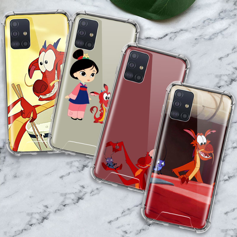 Cartoon Mulan\'S Dragon Case For Samsung Galaxy A71 A51 M31 A41 A31 A21 A11 A01 M51 M21 M11 Airbag Anti Housing Phone Covers