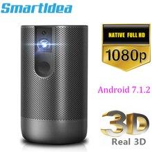 Smartldea D29 native1920x1080 Full HD проектор Android 7,0(2 ГБ+ 16 Гб) 5G, Wi-Fi, домашний проектор Поддержка 4K 3D зум Видео Beamer