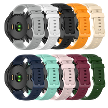 22mm Replacement Watchband Strap for Garmin Vivoactive 4 Smart Watch with Small Plaid Sports Bracelet Quick Release Wrist Band