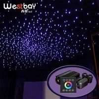 Fiber Optic Light Source 32W RGBW Double Port Light Driver Touch Panel Controller Star Ceiling Cinema Decor Starry Sky