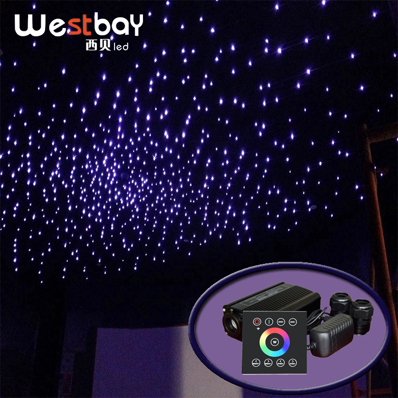 Fiber Optic Light Source 32W RGBW Double Port Light Driver Touch Panel Controller Star Ceiling Cinema Decor Starry Sky