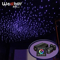 Starry Sky Optic Fiber Light Engine Driver 32W RGBW Double Port Fibre Optiq Light Source Touch Panel Star Ceiling