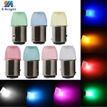 Factory New Leds 4-200pcs 1.5W Lens 12V 2835 9 SMD LED Bulb 1156 BA15S 1157 BAY15D Turn Signal Tail Light 7 Colors Free Shipping lnk362gn smd 7
