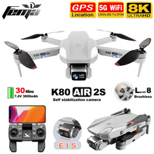 FEMA K80 AIR2S Drone z kamerą hd 8K gps profesjonalny bezszczotkowy 5G WiFi FPV 1Km duża odległość 30 minut zdalnie sterowany Quadcopter Dron tanie tanio CN (pochodzenie) About 1000m 4K UHD 6K UHD 8K UHD Mode2 4 kanały 12 + y 18 + Oryginalne pudełko na baterie Instrukcja obsługi