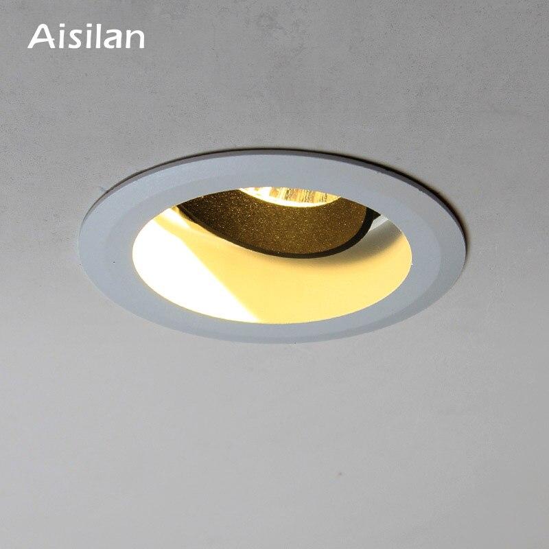 Aisilan потолочный светильник 7 Вт круглый встраиваемый светильник AC 90-260 В Светодиодный точечный светильник для спальни, кухни, внутреннего ос...