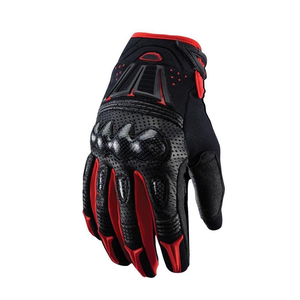 Black Red Delicate Fox Motorbike MX Dirt Bike Off-road Motocross Motorcycle Leather Gloves