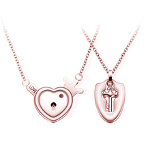 Personalized Classic Solid Heart Necklace For Men Women Couple Steel Love Pendan