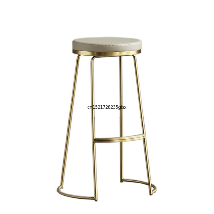 Nordic Ins Wind Bar Stools Bar Chair Creative Coffee Chair Gold High Stool Simple Dining Chair Wrought Iron Bar Table|  -
