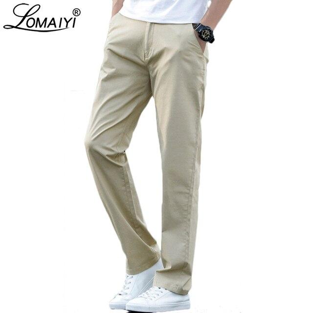 LOMAIYI בתוספת גודל גברים מכנסיים מקרית האביב/קיץ למתוח גברים של קלאסי מכנסיים זכר 2020 עסקי שחור/חאקי מכנסיים איש BM221