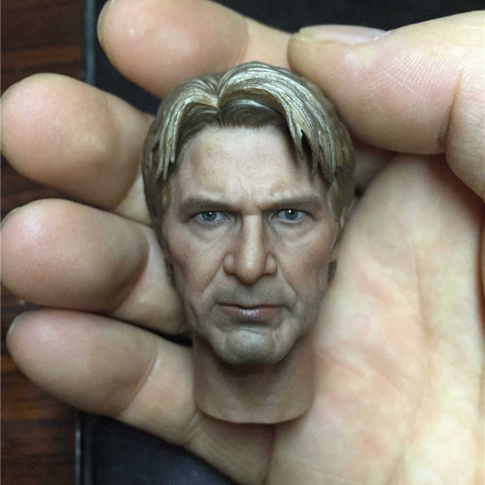 Star War Old Age Han Solo Harrison Ford Head Sculpt 1//6 Fit 12/'/' Action Figure