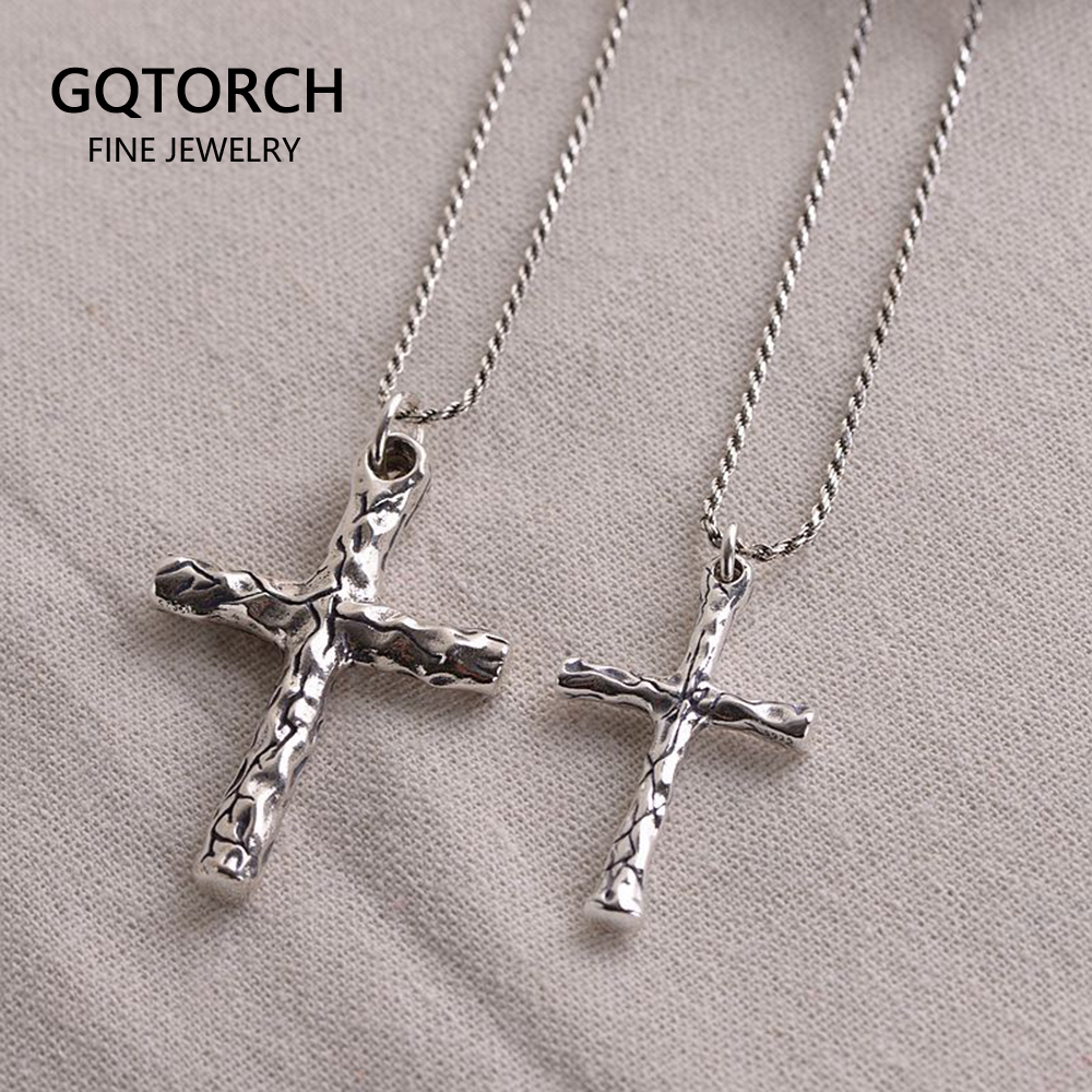 Sterling Silver The Lords Prayer Plain and Polished Cross Pendant