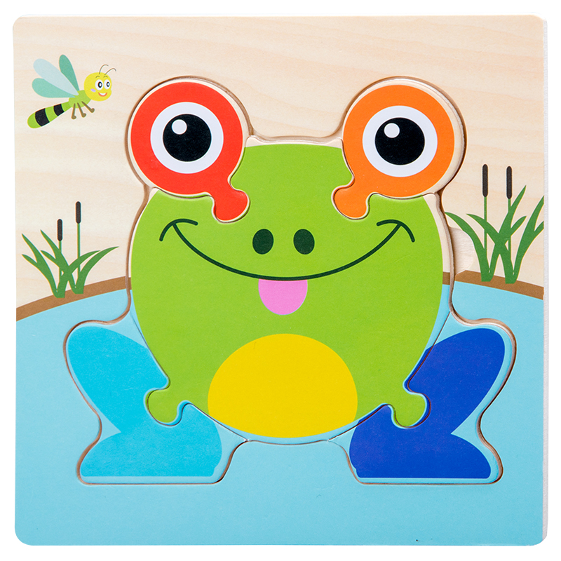 Baby Toys Wooden 3d Puzzle Tangram Shapes Learning Cartoon Animal Intelligence Jigsaw Puzzle Toys For Children Educational 15