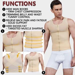 Image 3 - 남성용 강력한 압축 셔츠 여성형 유방 바디 셰이퍼 가슴 슬리밍 바디 셰이퍼 맞는 언더 셔츠 남성용 슬림 코르셋