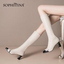 Sophitina/модные женские ботинки с острым носком; Смешанные