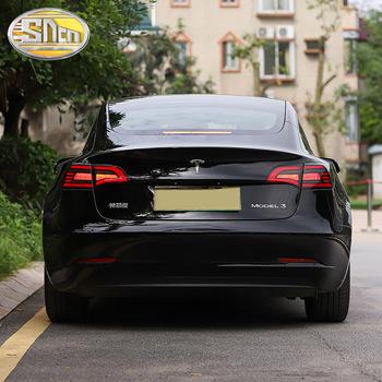 Tylne światło do jazdy + hamulec + światło cofania + dynamiczny kierunkowskaz tylne światło LED tylne światło dla Tesla Model 3 2016 #8211 2021 tanie i dobre opinie sncn Zespół światła tylnego CN (pochodzenie) 12 v For Tesla Model 3 2016 - 2021 Black