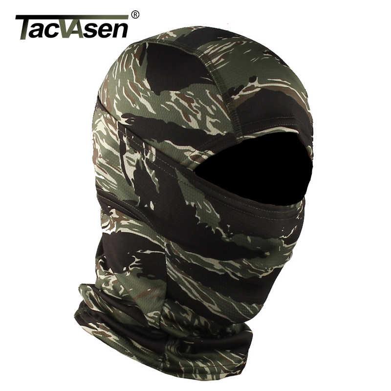 Tacvasen capacete militar tático camuflado, equipamento facial completo para armas de ar, balaclava, caça, motocicleta ninja