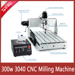 CNC 3040 T-D Machine Three-axis 300W/800W Threads Screw CNC Router Engraver 3 axis Engraving Milling Drilling Cutting Machine